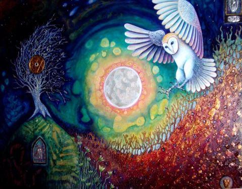 full moonbarn owl beautiful