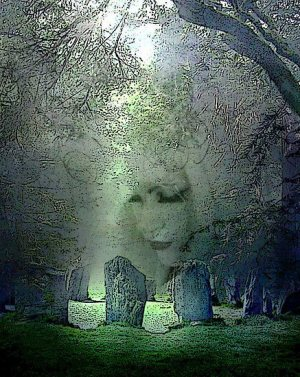 Divine Mother amidst Standing Stones