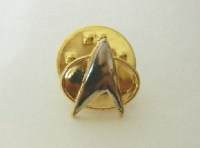 "Star Trek The Next Generation /""Make It So/"" Logo Metal Cloisonne Pin NEW UNUSED"