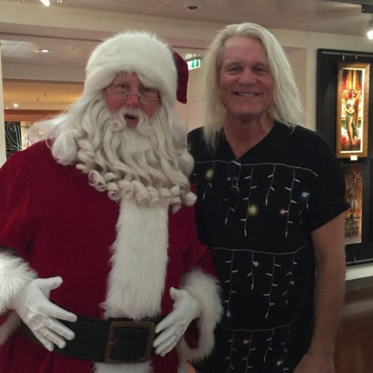 Bruce Hall with santa
