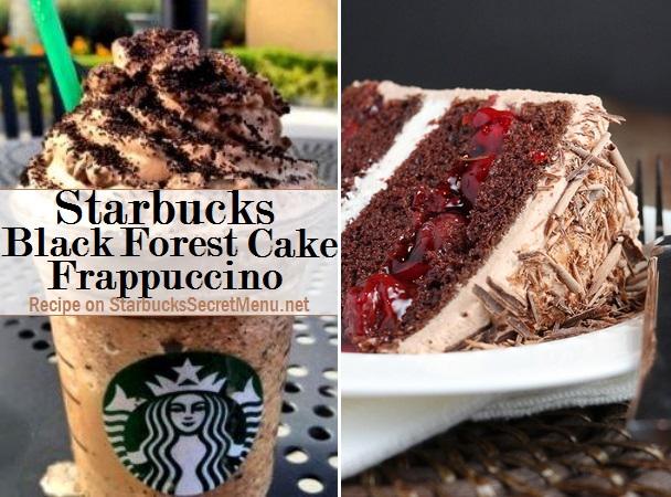 Starbucks Secret Menu Black Forest Cake Frappuccino