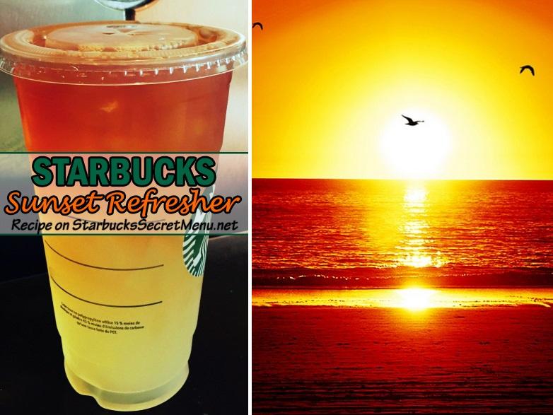 Starbucks Sunset Refresher Starbucks Secret Menu