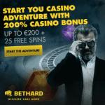 25 Free Spins on Starburst & 200 EUR Bonus at Bethard Casino