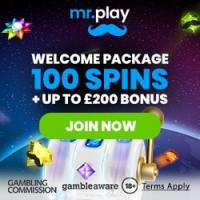 Mr.play Casino 100 bonus spins and £200 bonus