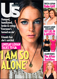 Lindsay Lohan on the cover of US Weekly
