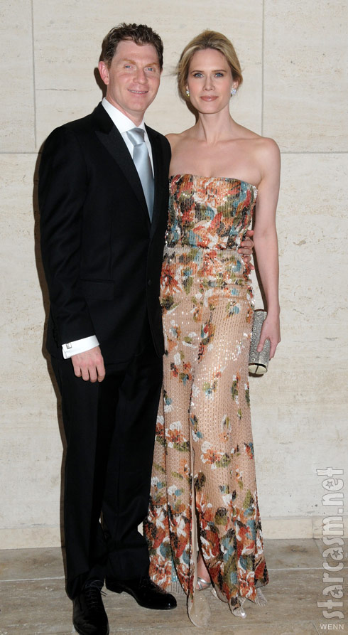 Bobby Flay with wife actress Stephanie March in 2009