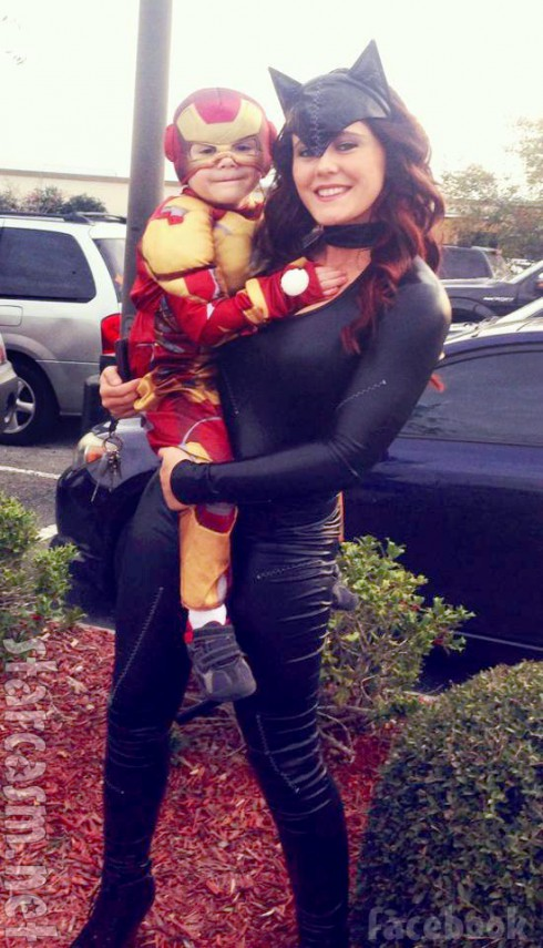 PHOTOS VIDEOS Jenelle Evans As Catwoman Jace As Iron Man For Halloween