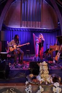 Fanny Starchild and Vegari Cendar Mystical Harp Music and bass