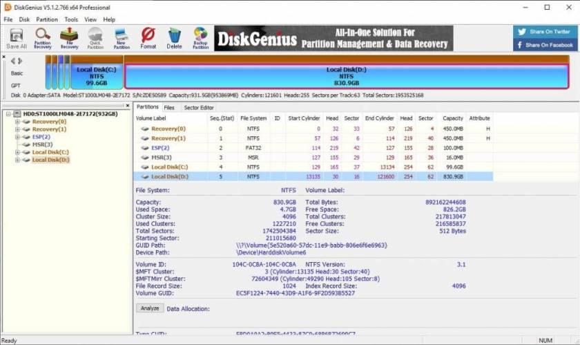 DiskGenius Professional 5 Crack