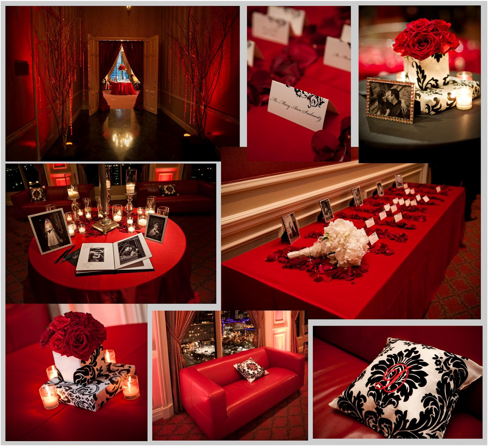 Black And Red Sliver Party And