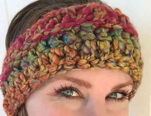Headbands Ear Warmers Stardust Gold Crochet