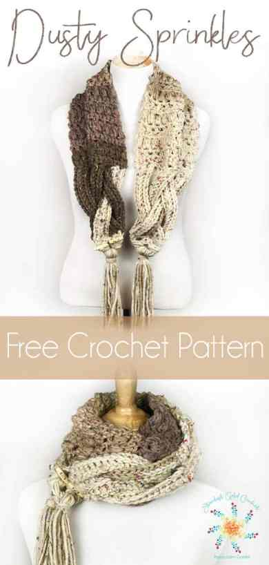 Dusty Sprinkles Scarf Free Crochet Pattern And Video Tutorial