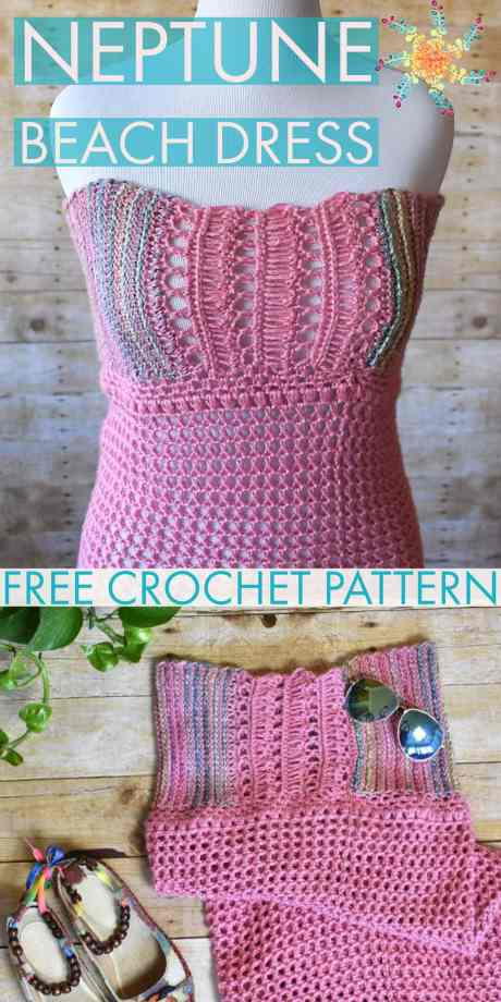 Neptune Beach Dress Free Crochet Pattern Stardust Gold Crochet