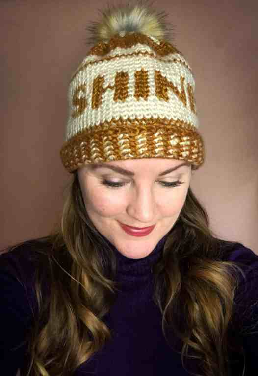 Shine Beanie by Stardust Gold Crochet