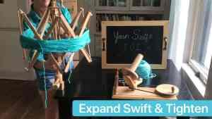 Yarn Ball Winder Expand the Swift