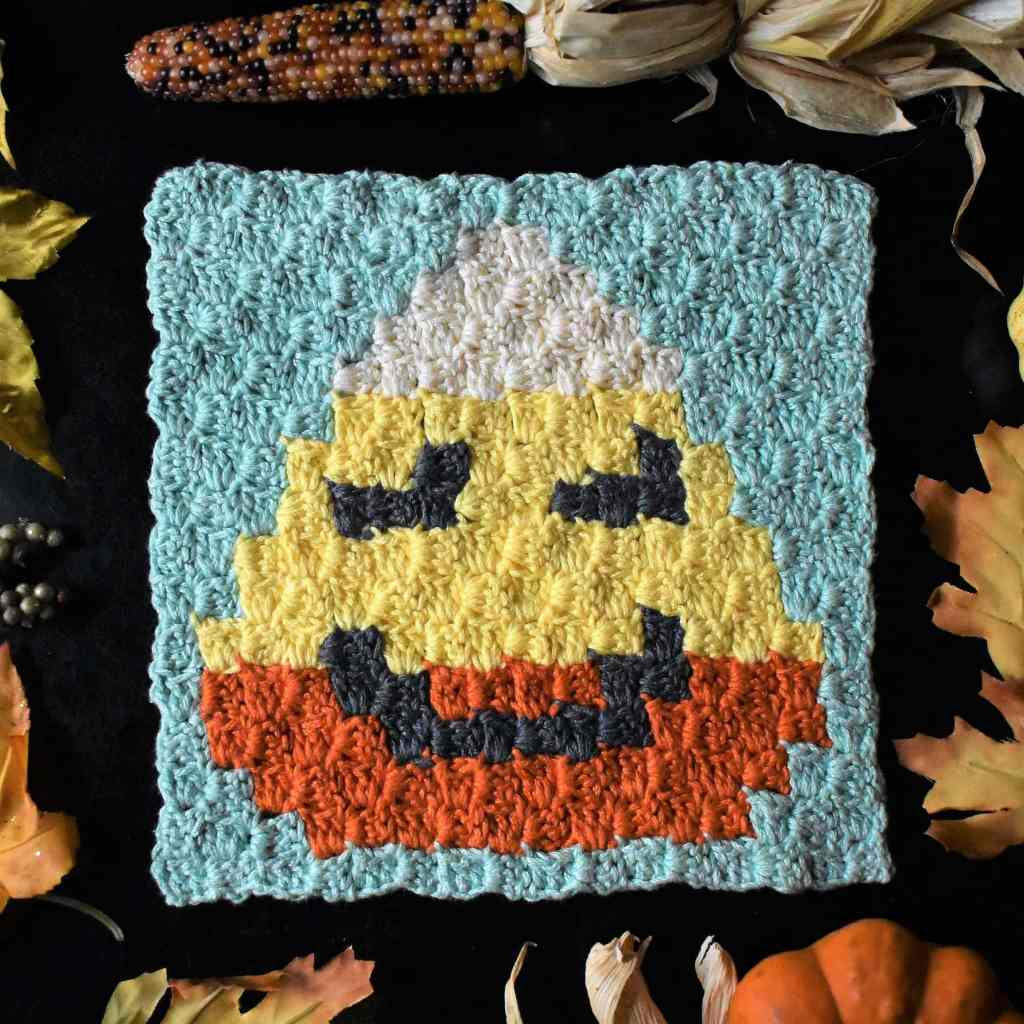 Candy Corn C2C Halloween Square