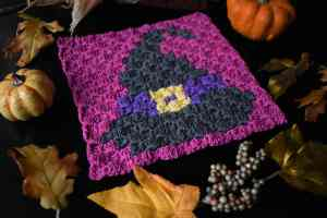 Witch Hat C2C Pattern by Stardust Gold Crochet