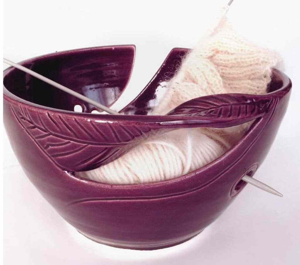 Wheel Thrown Yarn Bowl by Blue Room Pottery