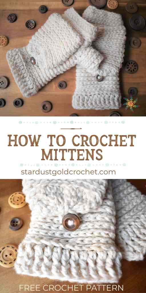 How to Crochet Mittens Pin