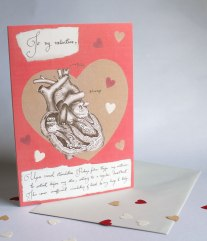 Card with small hearts