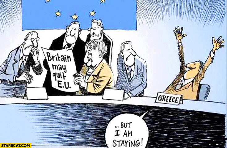 Britain leaving EU, Greece: but I'm staying brexit