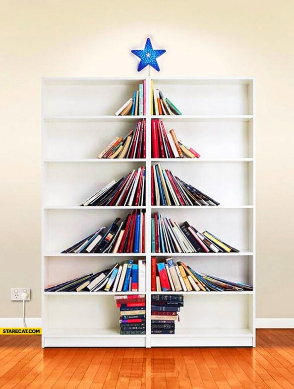 Image result for christmas tree made of books hd images