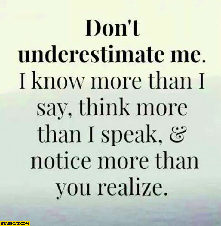 You Think U Know Me Quotes
