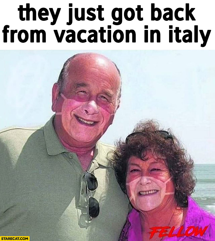 They Just Got Back From Vacation In Italy Corona Virus Facemask