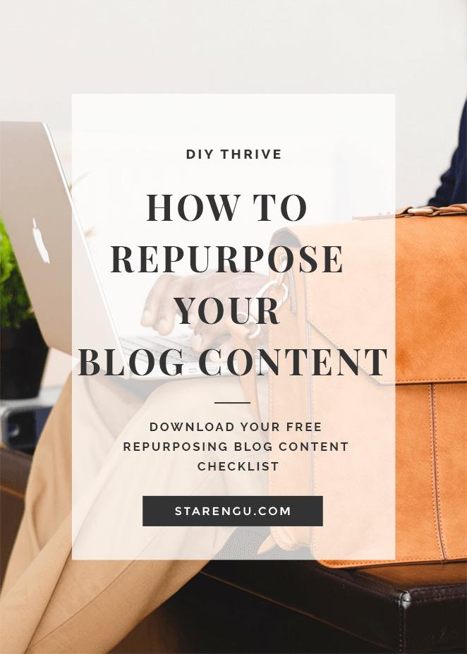 Starengu's How to Repurpose Blog Content