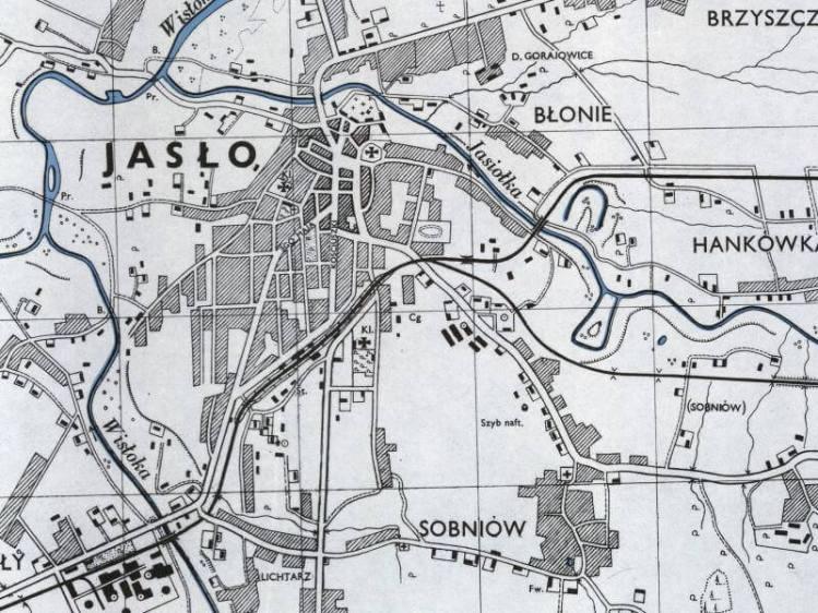 Plan Miasta Jasła z 1943r.