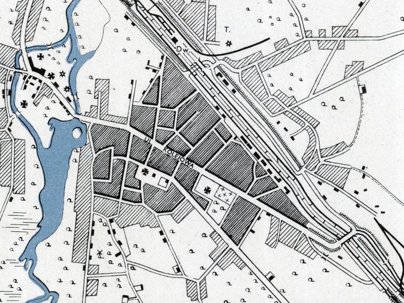 Plan Miasta Kowla z 1943r.