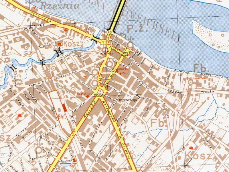 Plan Miasta Włocławka z 1939r.