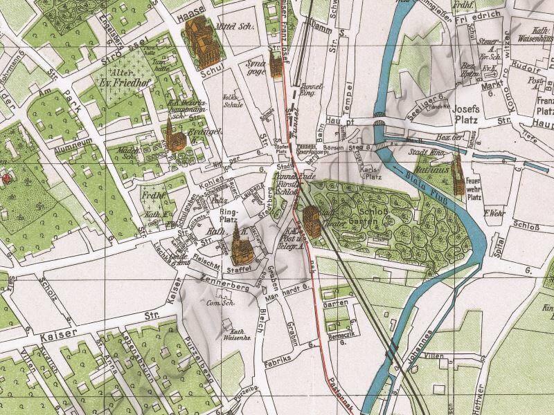 Plan Miasta Bielsko-Białej z 1915r.