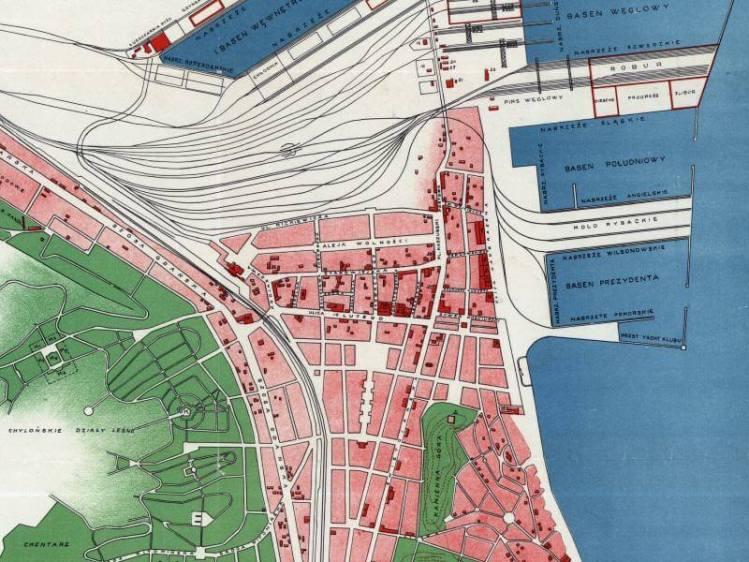 Plan Miasta Gdyni z 1930r.