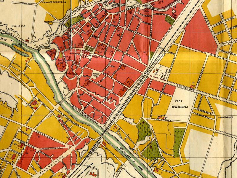 Plan Miasta Grodna z 1932r.