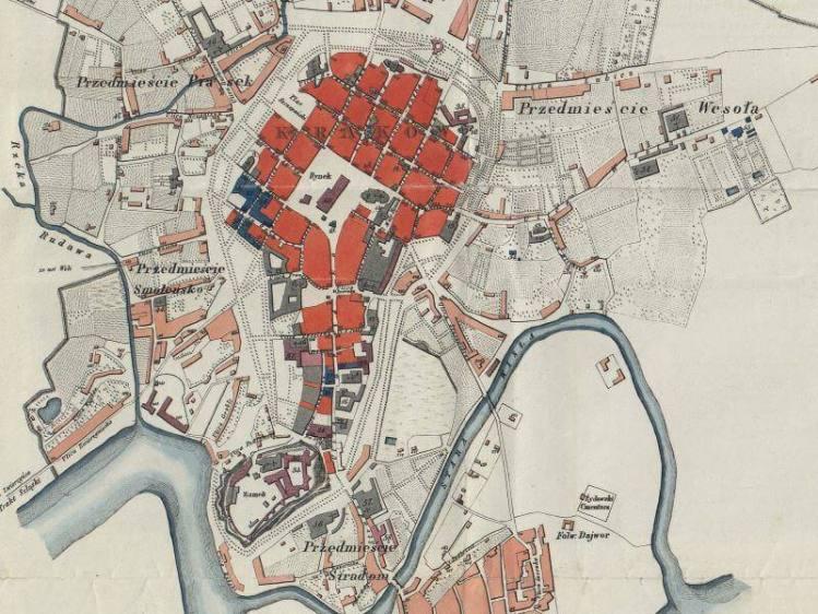 Plan Miasta Krakowa z 1836r.