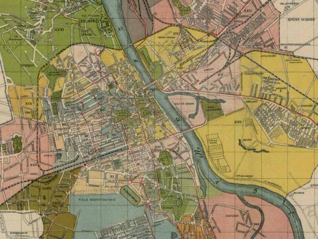 Stare Mapy Warszawy I Okolic