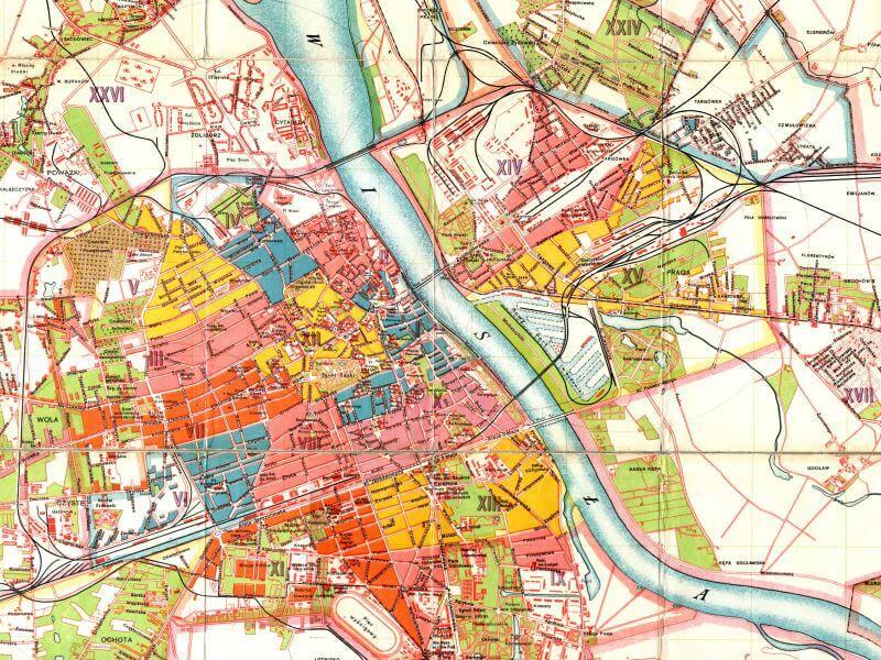 Plan Miasta Warszawy z 1924r.