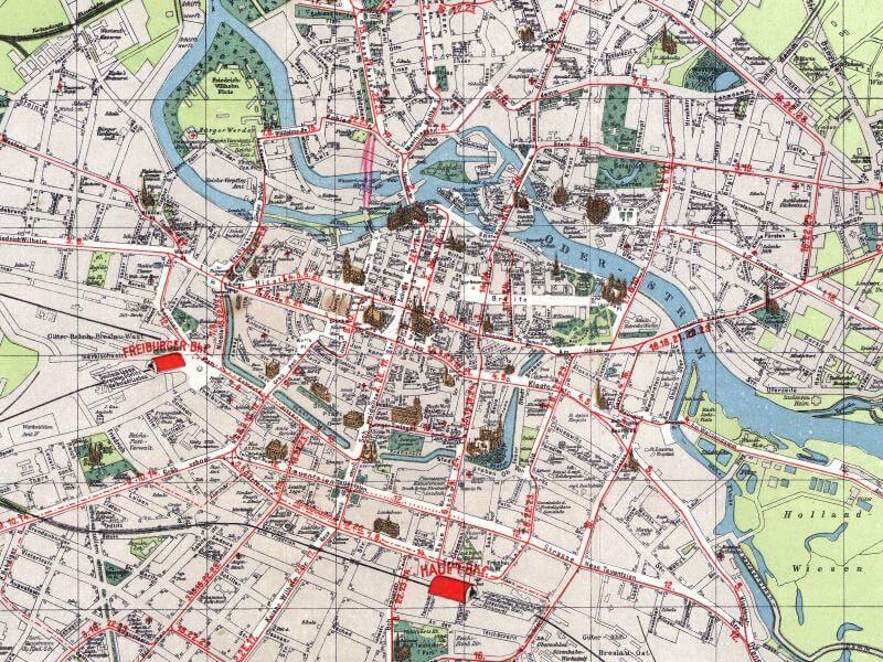 Plan Miasta Wrocławia z 1930r.