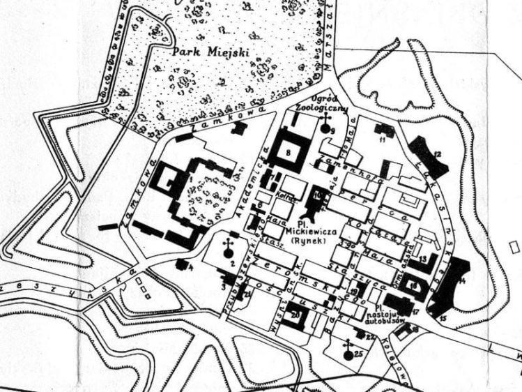 Plan Miasta Zamościa z 1932r.