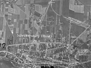 Zdjęcie lotnicze Płocka z 1944r.