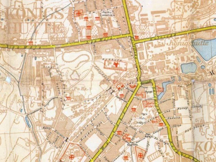 Plan Miasta Chorzowa z 1939r.