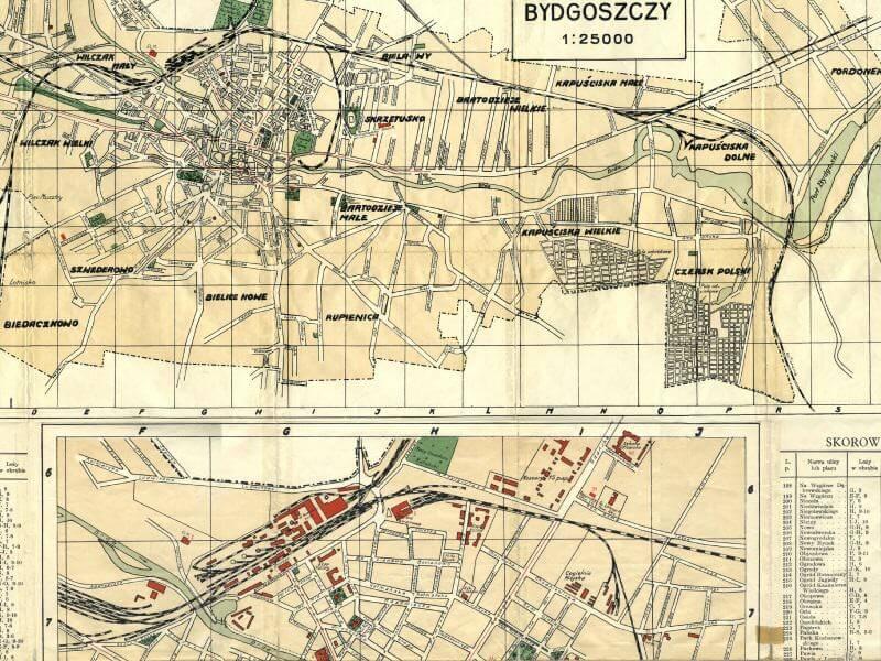 Plan Miasta Bydgoszczy z 1933r.
