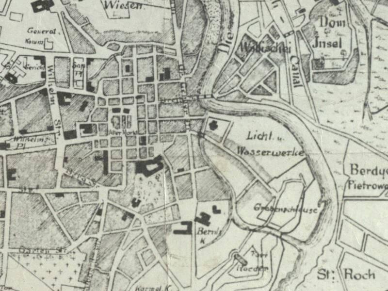 Plan Miasta Poznania z 1875r.