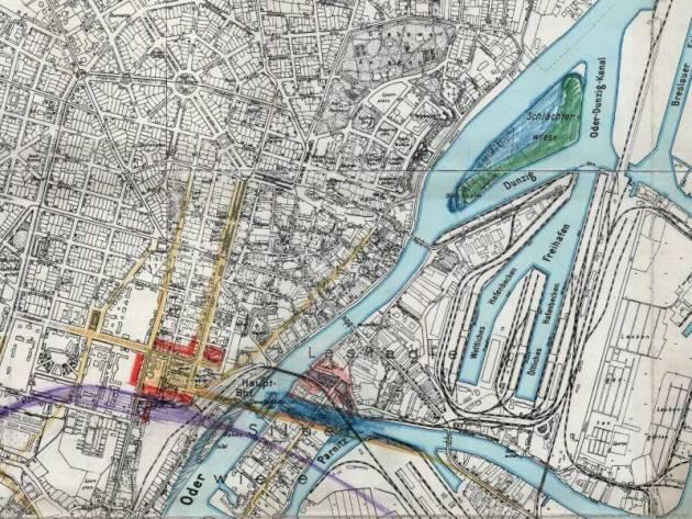 Plan Miasta Szczecina Z 1937r Nakladka Na Wspolczesne Mapy