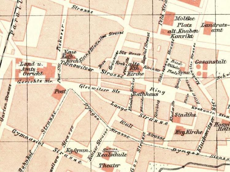 Plan Miasta Bytomia z 1904r.