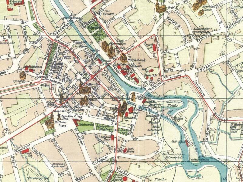 Plan Miasta Słupska z 1926r.
