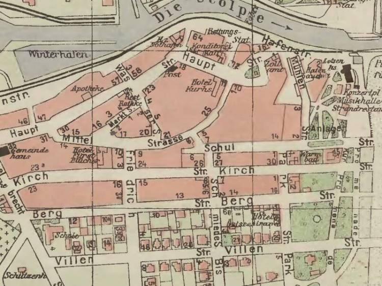 Plan Miasta Ustki z 1930r.