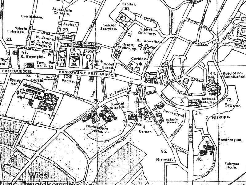 Plan Miasta Lublina z 1918r.