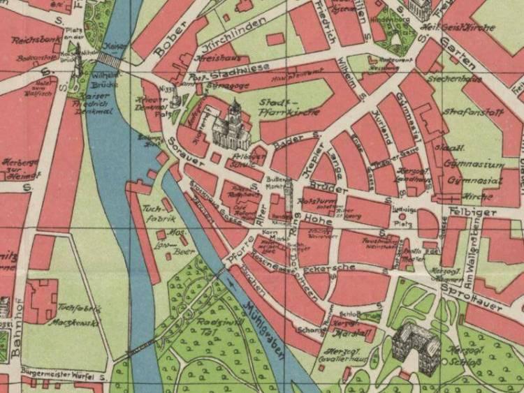 Plan Miasta Żagania z 1927r.